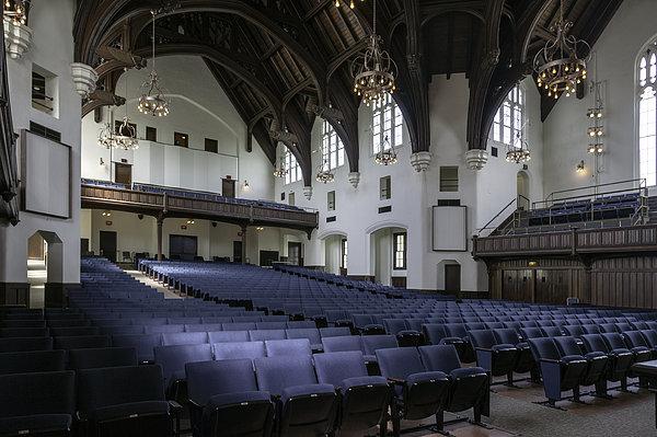 Uf University Auditorium Interior And Seating Print by Lynn Palmer