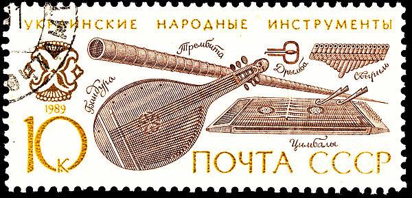 Ukrainian Folk Music Instruments  Print by Jim Pruitt