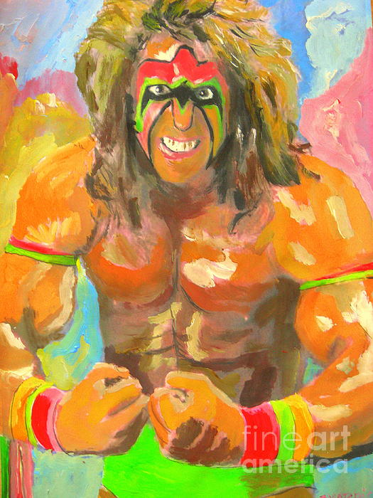 Ultimate Warrior Print by John Morris
