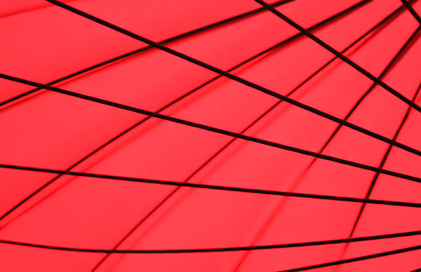 Red And Black Abstract Print by Tony Grider