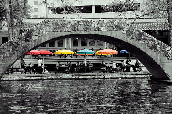 Umbrellas Of Many Colors Print by John Kain
