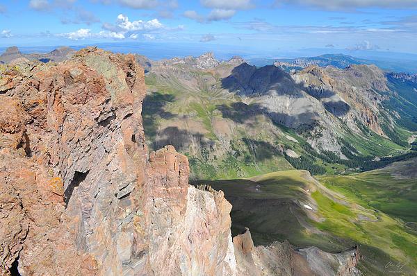 Uncompahgre Peak Summit Print by Aaron Spong