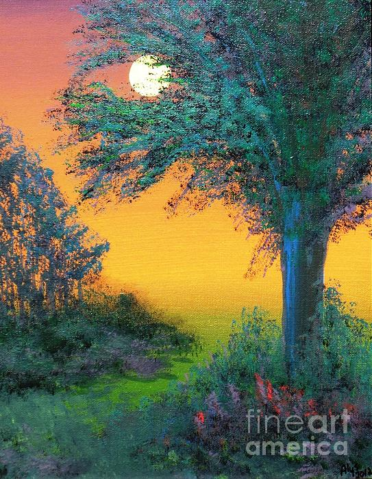 Under The Solstice Moon Print by Alys Caviness-Gober