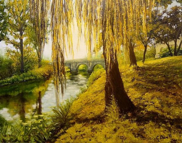 Under The Willow Print by Svetla Dimitrova