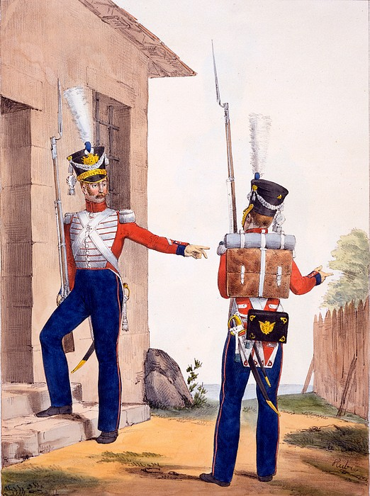 Uniform Of The 8th Infantry Regiment Print by Charles Aubry