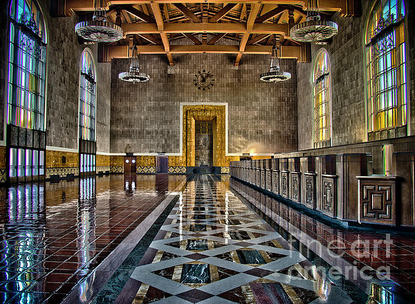 Union Station Interior- Los Angeles Print by David Doucot