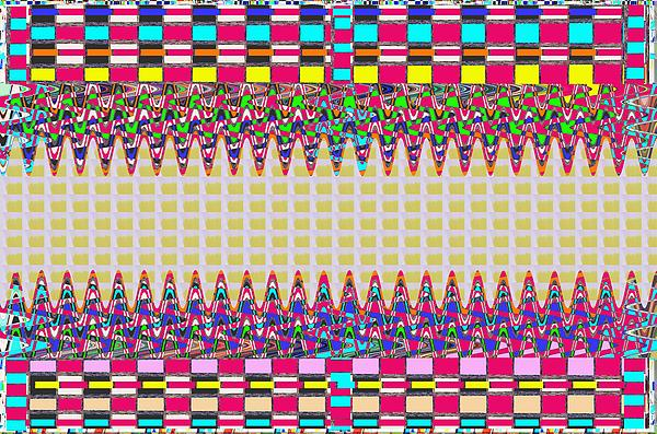 Navin Joshi - Unique Stripe Art Check Boxes colorful waves pattern signature navinjoshi top100    Ideal for Throw