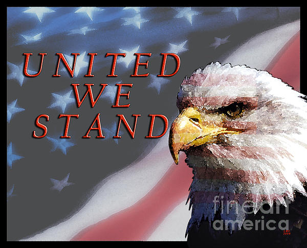 United We Stand Print by Lawrence Costales
