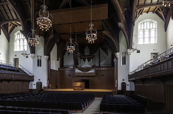 University Auditorium And The Anderson Memorial Organ Print by Lynn Palmer
