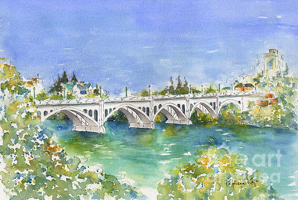 University Bridge Print by Pat Katz
