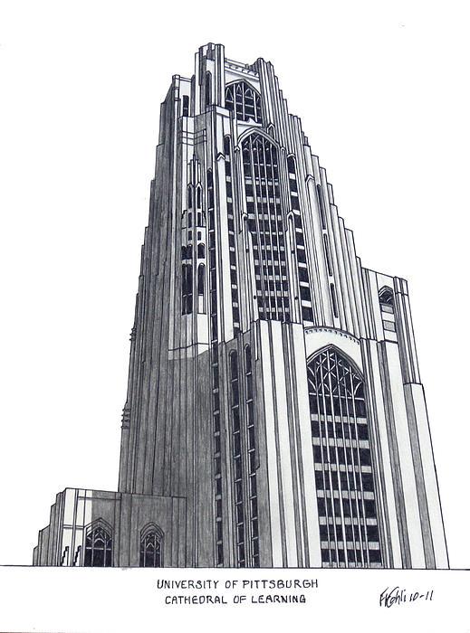 University Of Pittsburgh Print by Frederic Kohli