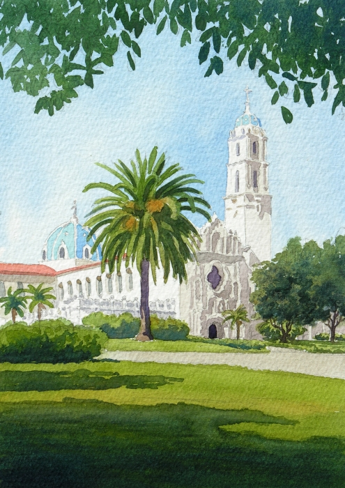 University Of San Diego Print by Mary Helmreich
