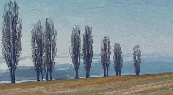 Uphill Wittem Eys Print by Nop Briex