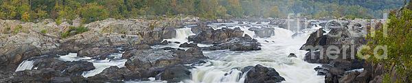 Upper Great Falls Panorama Print by Benjamin Reed