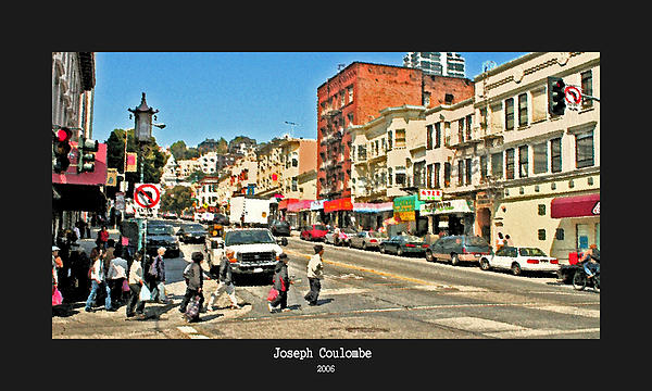 Urban Cross Walks Print by Joseph Coulombe