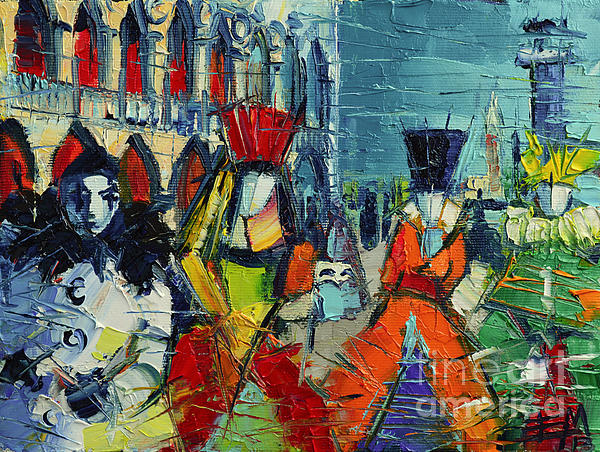 Urban Story - The Carnival Print by Mona Edulesco