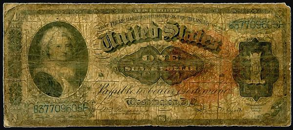 U.s. 1886 One Dollar Silver Certificate  Print by Lanjee Chee