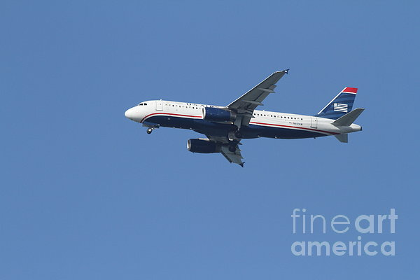 Us Airways Jet 7d21945 Print by Wingsdomain Art and Photography