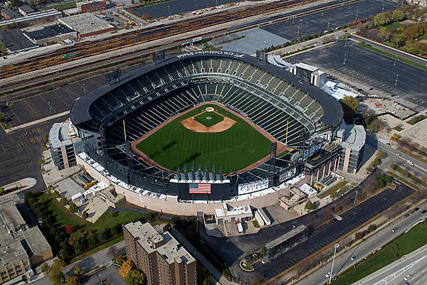 Us Cellular Field Chicago Sports 08 Print by Thomas Woolworth
