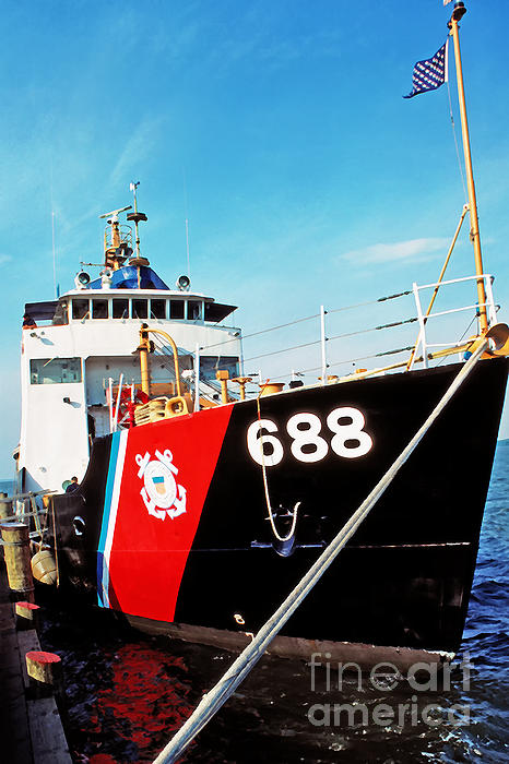Us Coast Guard Ship Print by Thomas R Fletcher