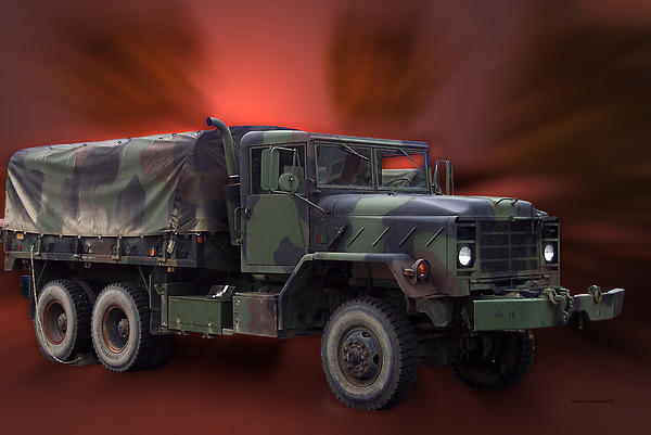 Us Military Truck Print by Thomas Woolworth