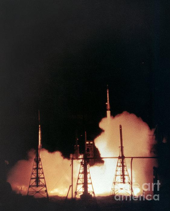 Us Navy Rockets 1958 Print by Granger