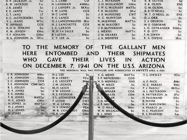U.s.s. Arizona Pearl Harbor Memorial Print by Barbara West