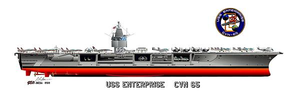 Uss Enterprise Cvn 65 1975- 1981 Print by George Bieda