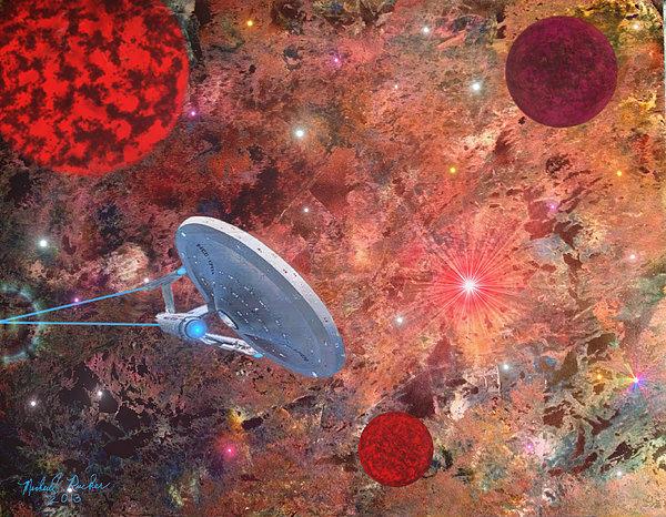 U.s.s Enterprise -orion  Print by Michael Rucker