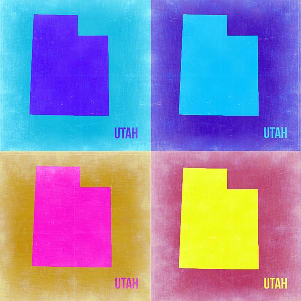 Utah Pop Art Map 2 Print by Naxart Studio