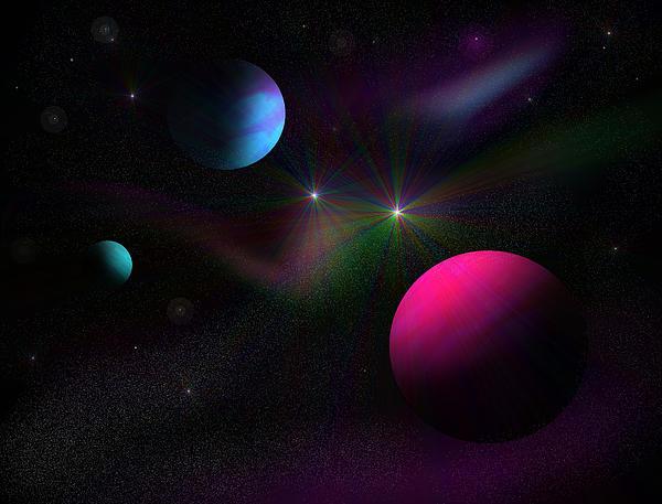Vacuum Of Space Print by Ricky Haug