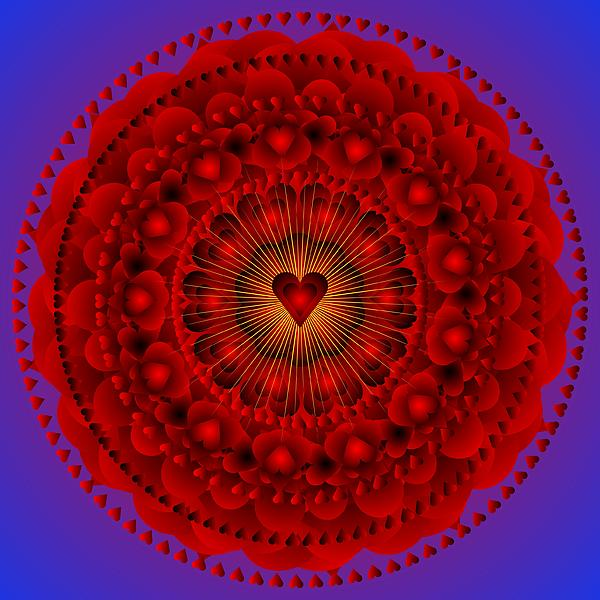 valentine mandala just for the love of it by sarah niebank. Black Bedroom Furniture Sets. Home Design Ideas