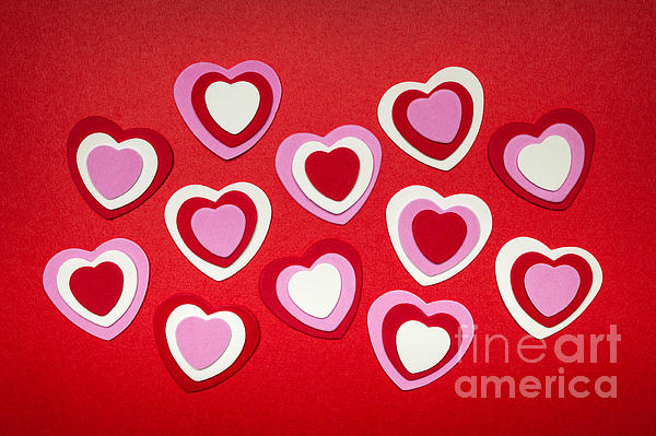 Valentines Day Hearts Print by Elena Elisseeva