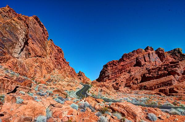 Valley Of Fire Print by Zachary Cox