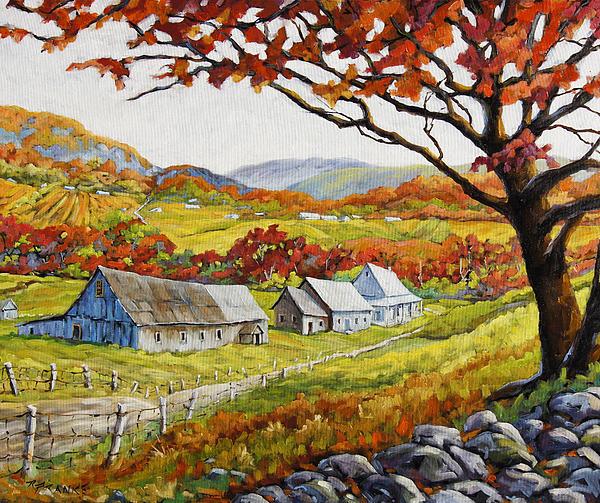 Valley View By Prankearts Print by Richard T Pranke