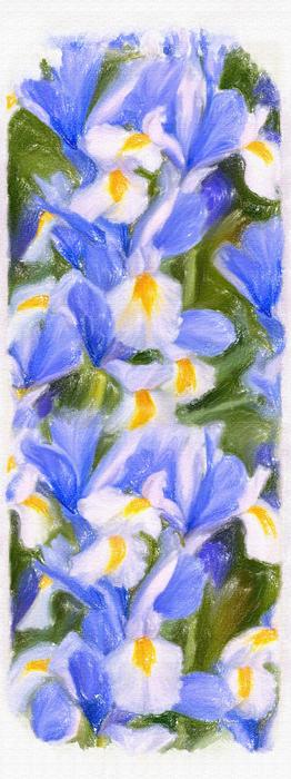 Van Gogh's Iris Print by Angela A Stanton