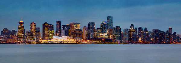 Vancouver From Lonsdale Quay Print by Alexis Birkill