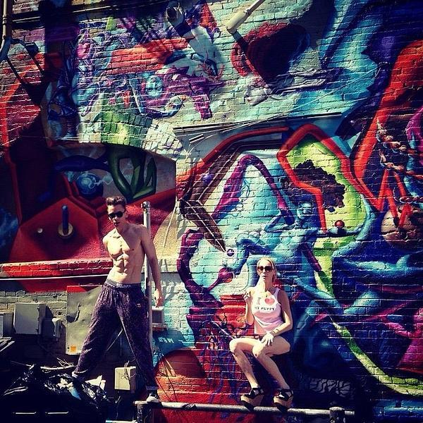 Vanilla Ice Graffiti Venice Beach Print by Lisa Piper Menkin Stegeman