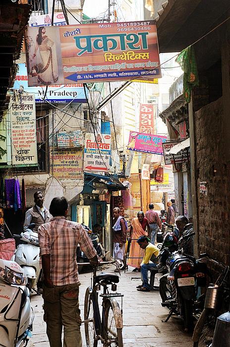 Varanasi Street Print by Money Sharma