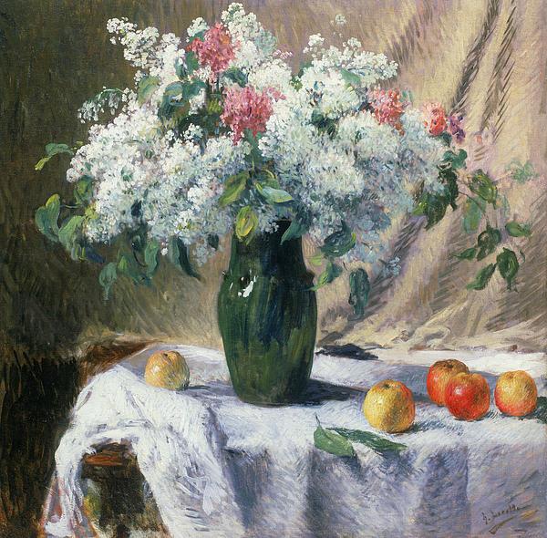 Vase Of Flowers Print by Henri Lerolle