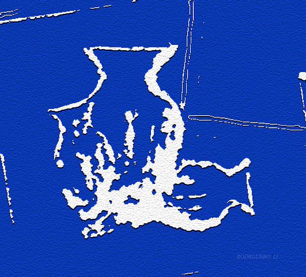 Vases In Blue Print by Mario  Perez