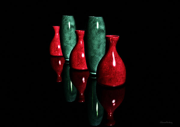 Ramon Martinez - Vases in Dark