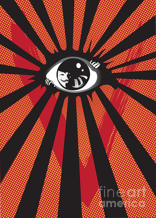 Vendetta2 Eyeball Print by Sassan Filsoof