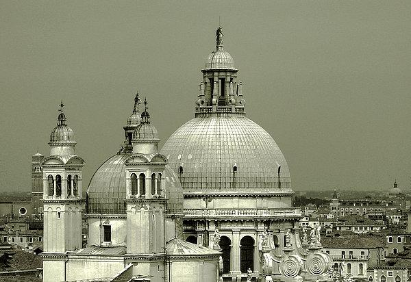 Venetian Basilica Salute Print by Julie Palencia