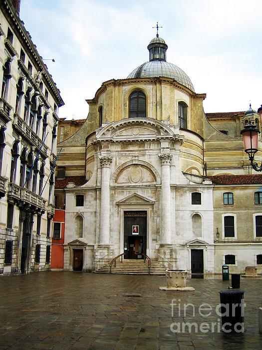 Venetian Church Print by John Rizzuto