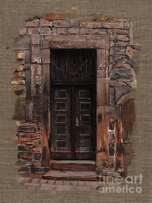 Venetian Door 02 Elena Yakubovich Print by Elena Yakubovich