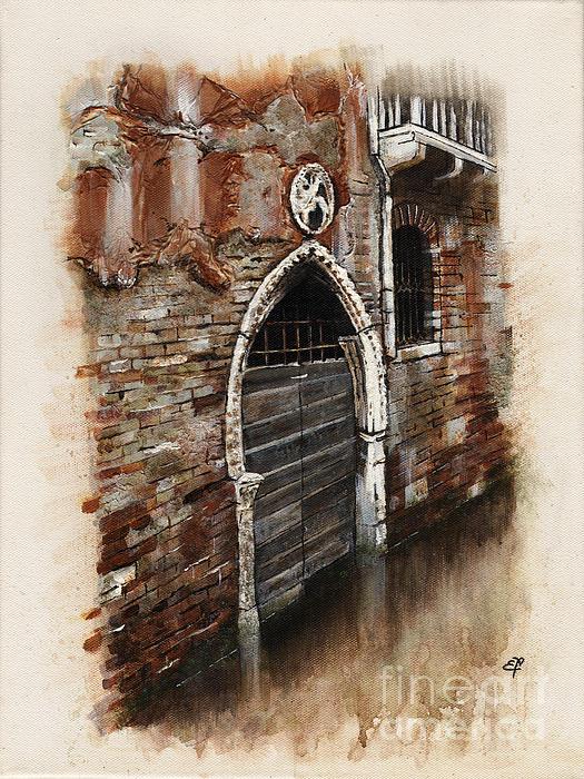 Venetian Door 03 Elena Yakubovich Print by Elena Yakubovich