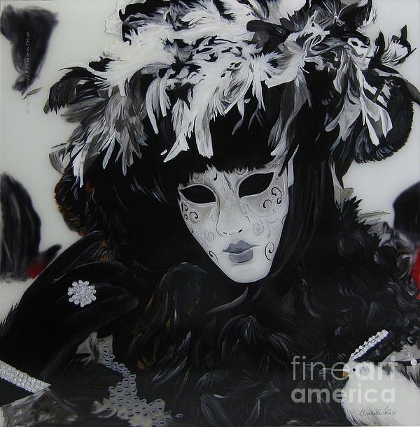 Venetian Mask Print by Betta Artusi