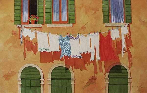 Mary Ellen  Mueller-Legault - Venetian Washday