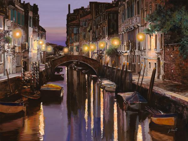 Venezia Al Crepuscolo Print by Guido Borelli